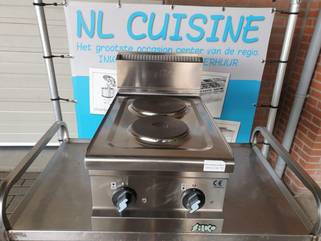 Silko 2 pits elektische kookplaten opzet model Image